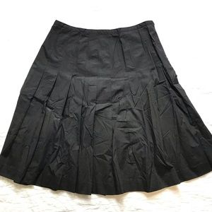 Chaps Black Pleated Skirt